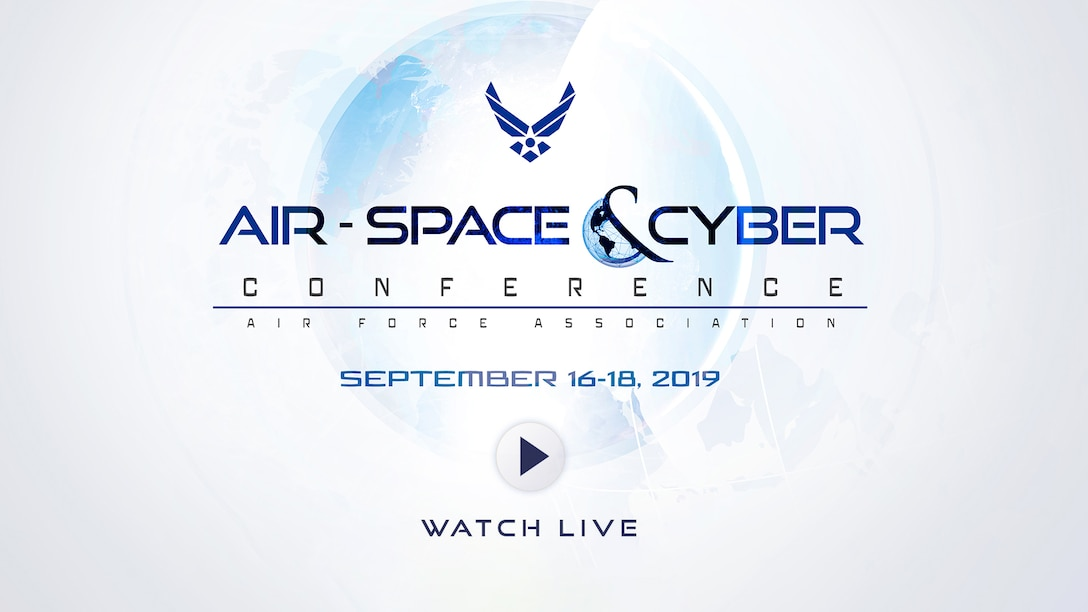 2019 Air Space and Cyber Conference promo graphic