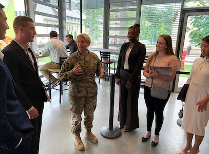 Cyber AIAD: Cadets visit the Joint Cyber Center, U.S. Army African Command in Stuttgart, Germany to hear about and discuss real-world issues within the cyber domain and how it affects military operations.