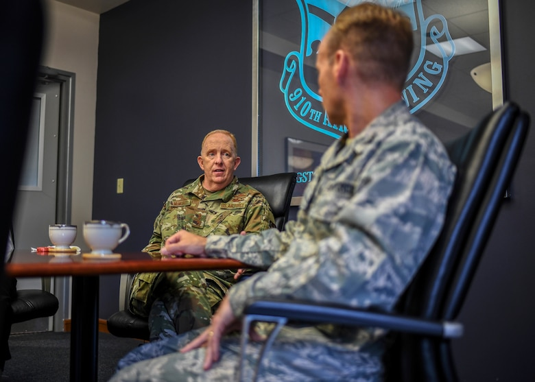 Lt. Gen. Robert D. McMurry Jr., commander of Air Force Life Cycle Management Center at Wright-Patterson Air Force Base, Ohio, visited YARS and America Makes in Youngstown, Ohio.