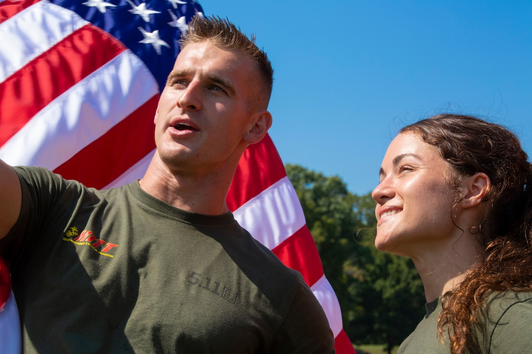 U.S. Marine Corps Cpl. Alexandra Martin and Sgt. Kevin Fisch, who won for the second year in a row, placed first during the 2019 High Intensity Tactical Training Championship aboard Marine Corps Base Quantico on Sept. 12, 2019. Competitors from all across the Marine Corps battle for the title of HITT Champion. The championship spans over four days, and includes seven challenges, which test the athletes' physical and mental fortitude.
