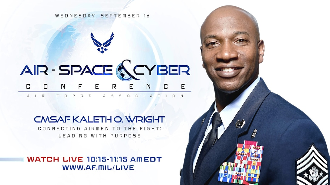 2019 Air Space and Cyber Conference State of the Air Force promo graphic