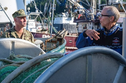 Admiral Visits Cordova as Part of Navy's Arctic Expeditionary Exercise