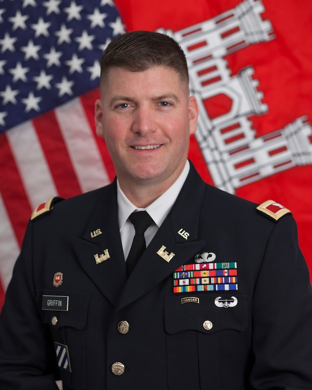 Colonel Marvin L. Griffin assumed command of the U.S. Army Engineering and Support Center, Huntsville, August 15, 20