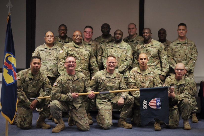 SEMBACH Germany—Soldiers of the 406th Human Resources Company, 7th Mission Support Command said goodbye to their unit during a deactivation ceremony held here at United Sates Army Garrison, Rheinland-Pfalz Sembach Kaserne on Sept. 14, 2019.
