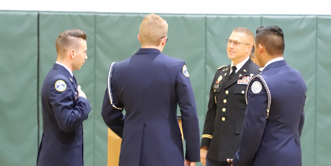 807th MC(DS) Leader Engages with Cadets at Patriot's Day Observance