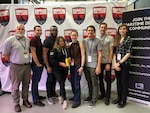 At the 2019 Hack the Machine event held in New York City, Sept. 6-8, members of the first place winning team,
