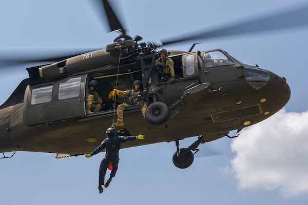 The Helicopter Aquatic Rescue (HART) Academy hosts its first joint training at the South Carolina Fire Academy in Columbia, South Carolina, Aug. 12-16, 2019. The academy is a joint training initiative by South Carolina, North Carolina, Pennsylvania and Texas between the National Guard and civilian agencies, implementing complex scenarios to ensure seamless response during real-world emergencies.
