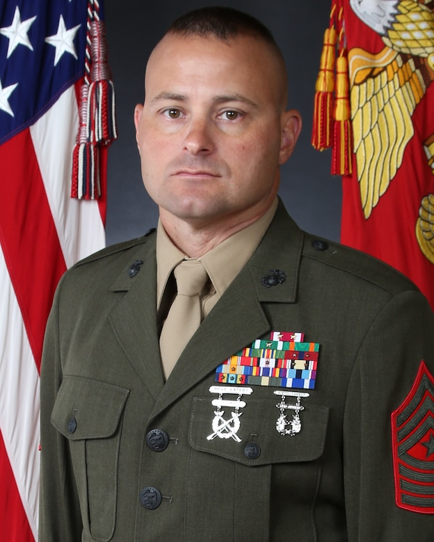 Sergeant Major Daniel C. Morning, 2nd Assault Amphibian Battalion sergeant major
