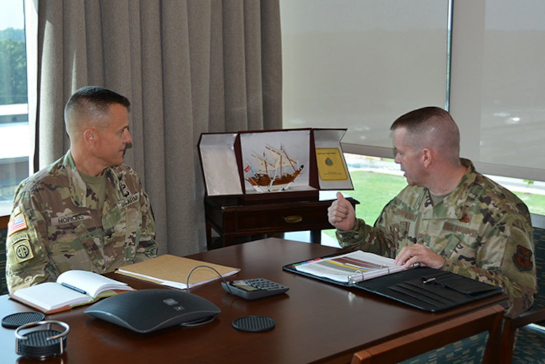 New Army chief speaks with commander