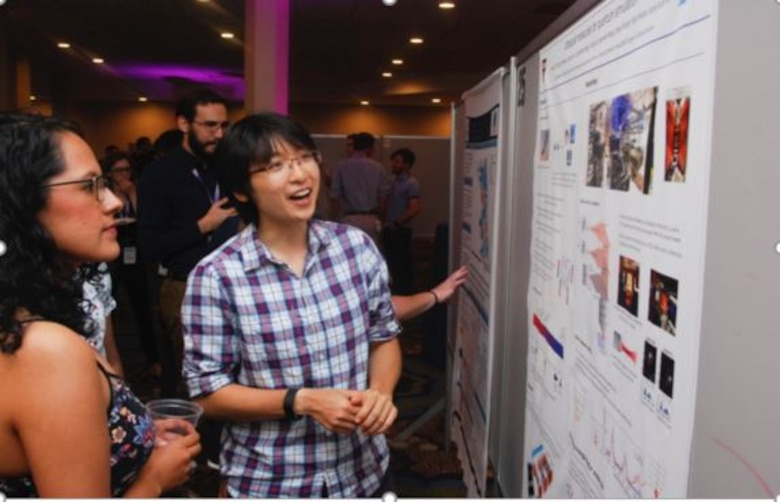 National Defense Science and Engineering Graduate Fellowship Program kicked off with a welcome reception followed by poster presentations from the Class of 2019 fellows. (U.S. Air Force photo/Brianna Hodges)