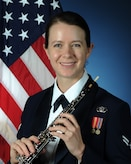Official photo of A1C Kathryn, Obolist with The United States Air Force Band of the West, Joint Base San Antonio.