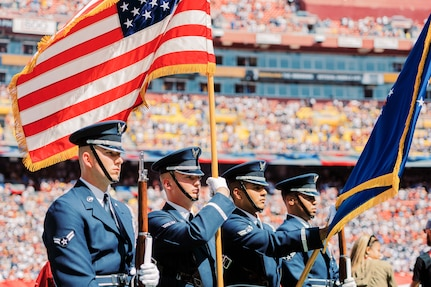 USAF Honor Guard kicks off Redskins Game