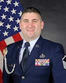 Official photo of MSgt Matthew Peacock, Pianist with The United States Air Force Band of the West, Joint Base San Antonio.
