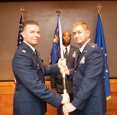 The 349th Logistics Readiness Squadron holds an Assumption of Command ceremony, September 7, 2019, at Travis Air Force Base, California.
