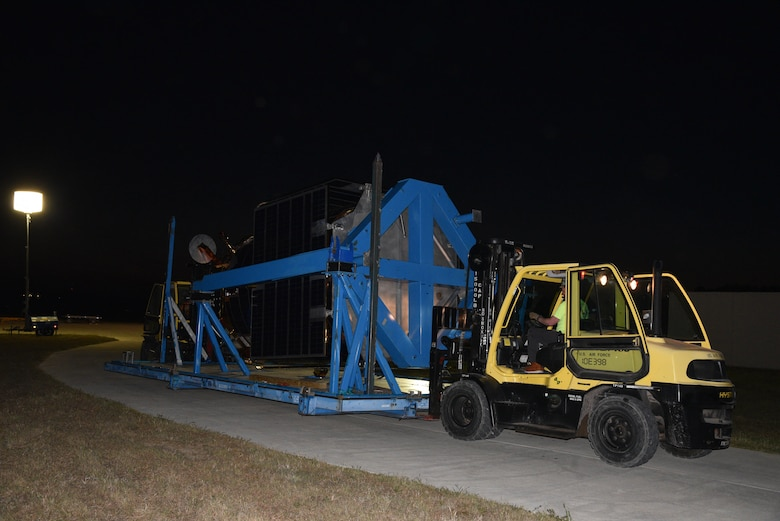 Photo of construction fork lift machine.
