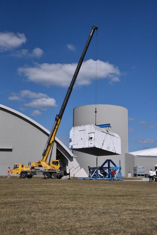 Photo of construction crane equipment.
