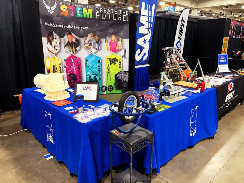 The Hill Air Force Base Science, Technology, Engineering and Math Outreach Program recently teamed with the Utah Engineers Council to present a STEM exhibit at the 2019 FanX event in Salt Lake City.