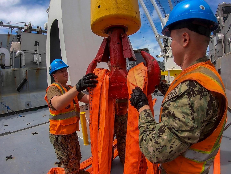 Navy Cargo Handling Bataillon 1 Conducts Training in Saipan