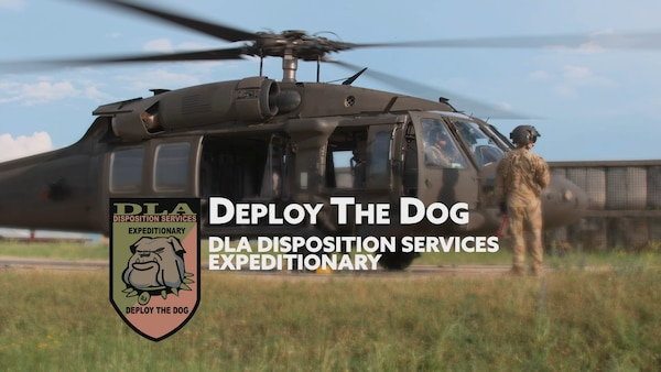 Photo of helicopter and military personnel.