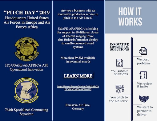 USAFE - AFAFRICA hosts Pitch Day