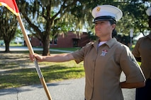 MARINE CORPS RECRUIT DEPOT PARRIS ISLAND, S.C. – A native of Spring Hill, Florida, graduated from Marine Corps recruit training here as company honor graduate of Company O, 4th Recruit Training Battalion, September 20, 2019.