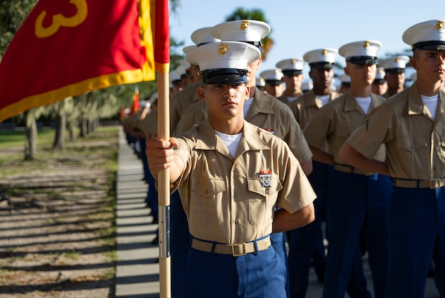 MARINE CORPS RECRUIT DEPOT PARRIS ISLAND, S.C. – A native of Miami, Florida, graduated from Marine Corps recruit training as a platoon honor graduate of Platoon 1073, Company D, 1st Recruit Training Battalion, September 20, 2019.