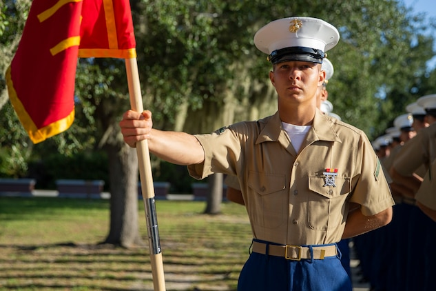 MARINE CORPS RECRUIT DEPOT PARRIS ISLAND, S.C. – A native of Ponte Vedra, Florida, graduated from Marine Corps recruit training as a platoon honor graduate of Platoon 1077, Company D, 1st Recruit Training Battalion, September 20, 2019.