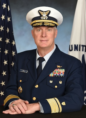 Official photo of Rear Admiral Mike Ryan
