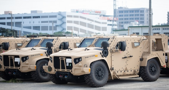 The Joint Light Tactical Vehicle is the latest addition to the 3rd Marine Division's fleet of vehicles in Okinawa, Japan. With improved armor, a better engine, and durability greater than that of the Humvee, the JLTV is a valuable new asset to 3rd Marine Division and will greatly improve mission success and lethality. (U.S. Marine Corps photo by Cpl. Jacob Hancock)