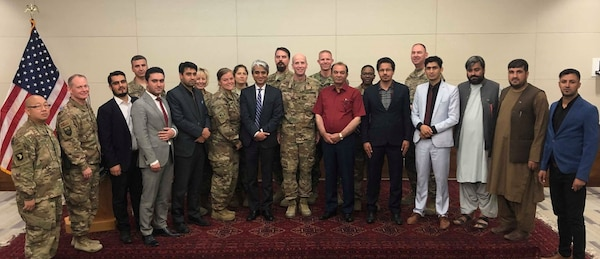 Executive level Power Governance team at the U. S. Embassy, Kabul, Afghanistan on September 21, 2019.