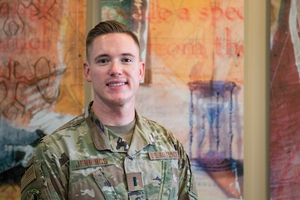 1st Lt. Benjamin Jennings, creator of Standard Template Optimization Program (STOP), poses for a photo Sept. 23, 2019, at Incirlik Air Base, Turkey. Jennings created STOP which is a modernization of the Air Force Handbook 33-337 The Tongue and Quill, the primary reference used to standardize documents Air Force-wide. The innovation earned the 39th Air Base Wing's top spot as this year's Spark Tank finalist and if selected and funded at the Air Force-level, the program will automatically generate standardized documents and form-fillable templates for a variety of common documents. (U.S. Air Force photo by Staff Sgt. Ceaira Tinsley)