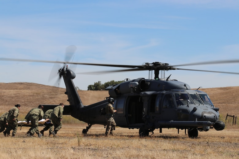 Sailors, Soldiers and Airmen train to save lives at Camp Parks