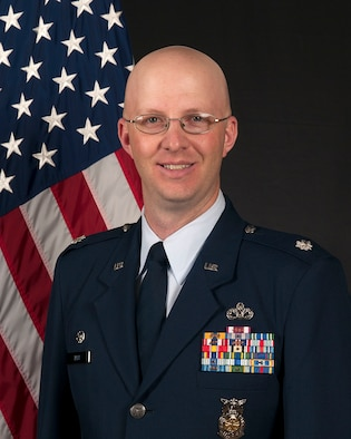 Lt. Col. Christopher Teke, 50th Civil Engineering Squadron commander