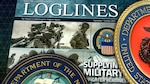 Cover of final Loglines magazine with military services and DLA logos.