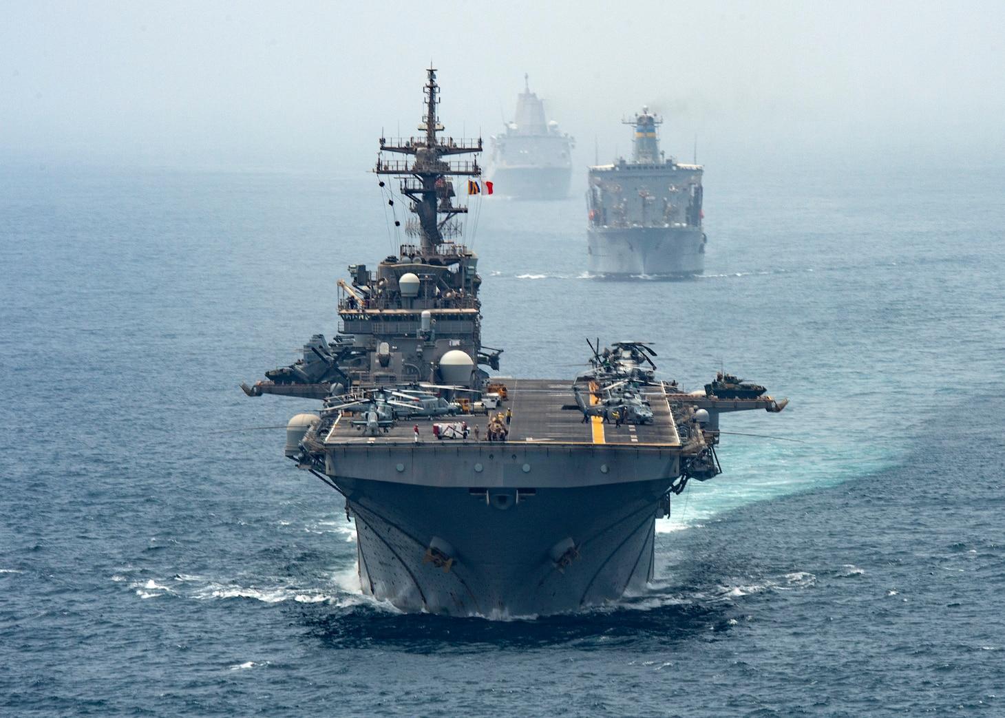 Official U.S. Navy file photo Amphibious assault ship USS Boxer (LHD 4),