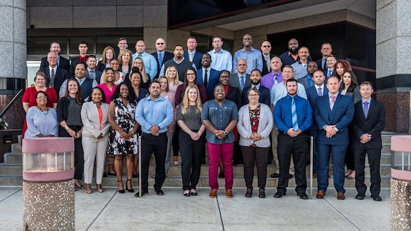 DLA Pathways to Career Excellence Program (PaCe) Cohort 2021B, Sept. 17, 2019 at DLA Land and Maritime, 48 of 49 associates are pictured.