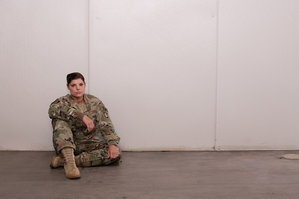 Staff Sgt. Ericka Costin, security forces at the 137th Special Operations Wing, poses for a portrait taken at Will Rogers Air National Guard Base in Oklahoma City, Aug. 28, 2019.