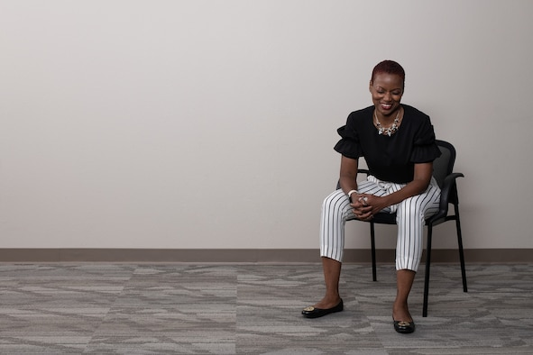 Ms. Charlene White, director of psychological health at the 137th Special Operations Wing, poses for a portrait taken at Will Rogers Air National Guard Base in Oklahoma City, Sep. 19, 2019.