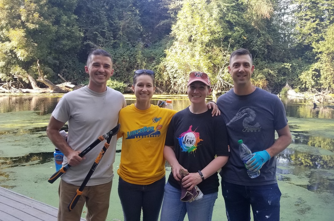 142nd FW CGO council cleans up local park