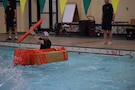 "Lt. Col. Kevin Groppel, battalion commander, Chicago Recruiting Battalion, paddles his way to a win in the ""Boat Wars"" competition at Gammon Physical Fitness Center, Fort Knox, Kentucky, Sept. 22. The competition was part of a three-day training forum hosted by 3rd Recruiting Brigade to prepare for successful support to the Army's 2020 recruiting goal."