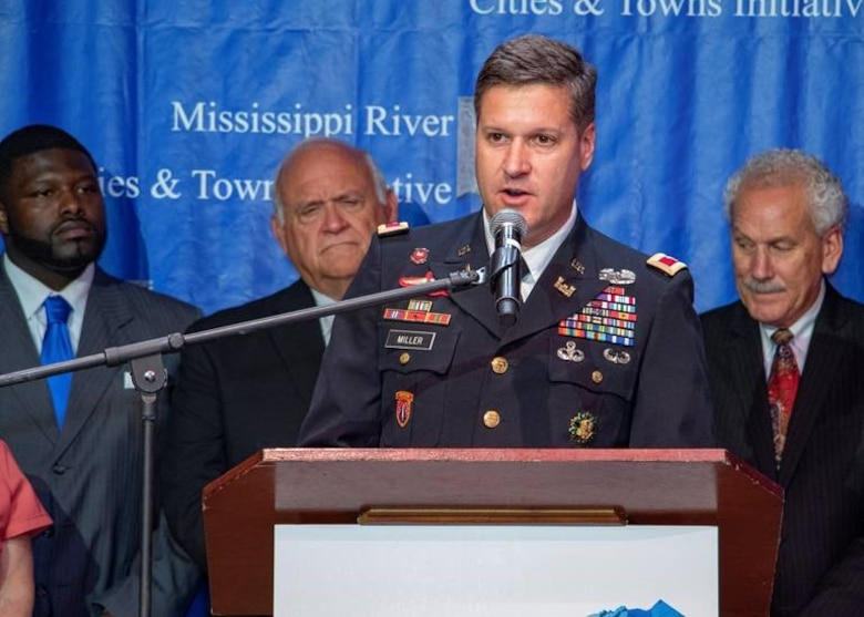 Memphis District Commander Col. Zachary Miller