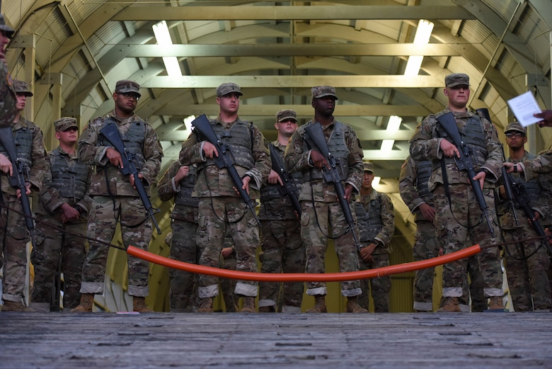 U.S. Army initial entry training Soldiers participate in weapons training during a field training exercise at Joint Base Langley-Eustis, Virginia, Sept. 18, 2019.