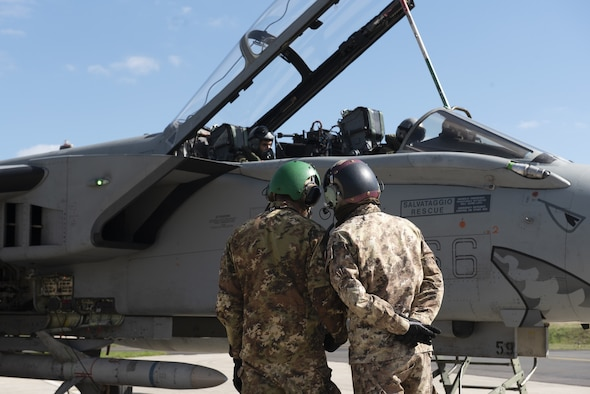 U.S. Air Force F-16s and Tornados worked together improving the integration and interoperability of the participating assets.
