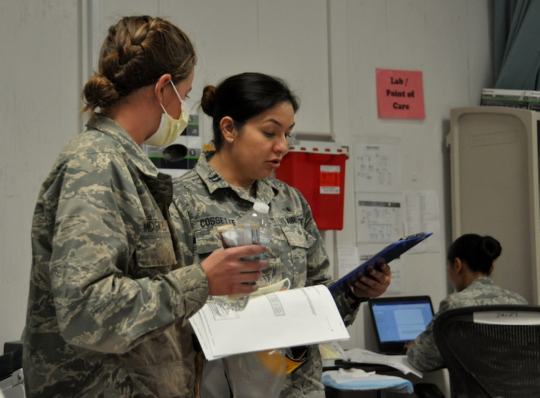 Capt. Nikkie Cossette, a clinical nurse with the 452nd Aeromedical Staging Squadron
