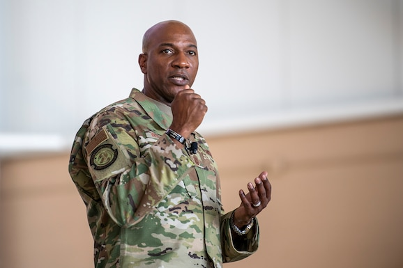 CMSAF visits Travis Devil Raiders