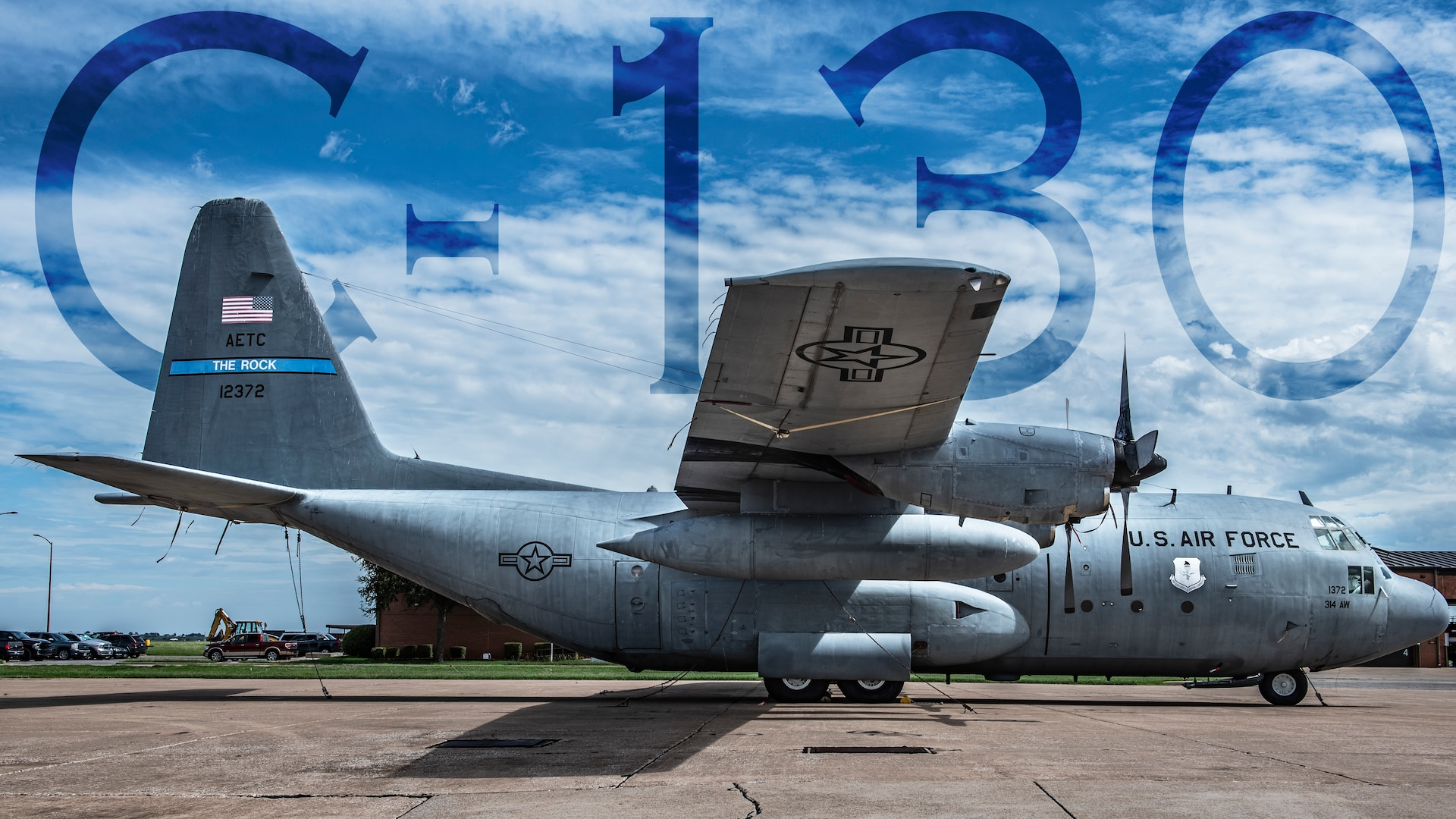 """One of the most reliable and oldest models the United States Air Force uses, the C-130 Hercules is the prime transport for transporting troops and equipment whether it be to hostile areas or friendly territory. The C-130 is an aircraft that can complete diverse missions from humanitarian supply drops to being outfitted into a AC-130 """"Spooky"""" gunship. The C-130 is a great example of flexibility being the key to air power. Read more about the C-130 at https://www.af.mil/About-Us/Fact-Sheets/Display/Article/1555054/c-130-hercules/ (U.S. Air Force illustration by Airman 1st Class Pedro Tenorio)"""