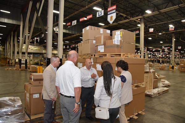 Marine Transporters Visit DLA Distribution Susquehanna, Pennsylvania