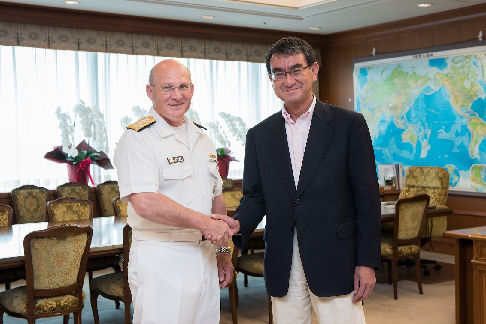 Chief of Naval Operations Visits Japan, Engages with Sailors and Leadership