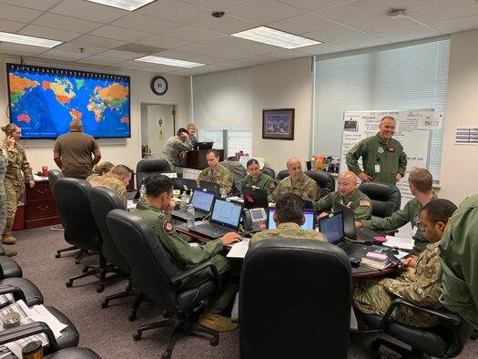 Team works in room