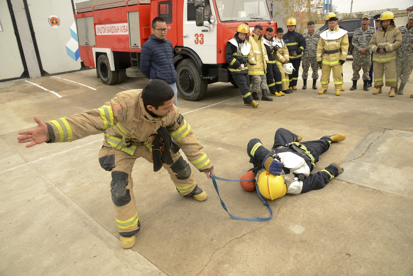 First Responders, Volunteers Train with Mongolian Partners